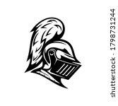 renaissance helmet isolated... | Shutterstock .eps vector #1798731244