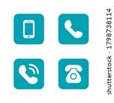 phone icon vector. telephone... | Shutterstock .eps vector #1798738114