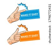 hand snapping fingers icon set. ... | Shutterstock .eps vector #1798772431