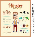 hipster character design with... | Shutterstock .eps vector #179877815