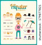hipster character design with... | Shutterstock .eps vector #179877821