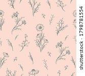 vintage seamless floral pattern.... | Shutterstock .eps vector #1798781554