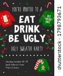 ugly sweater party poster... | Shutterstock .eps vector #1798793671