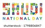 pattern design of saudi... | Shutterstock .eps vector #1798806847