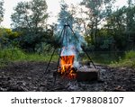 Cooking On A Campfire In Nature ...