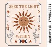 occult inspired illustration of ... | Shutterstock .eps vector #1798811731