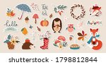 autumn stickers collection with ... | Shutterstock .eps vector #1798812844