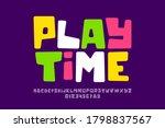 playful style font design ... | Shutterstock .eps vector #1798837567