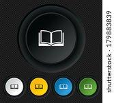 book sign icon. open book... | Shutterstock . vector #179883839