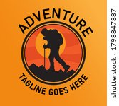 modern adventure template logo... | Shutterstock .eps vector #1798847887