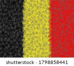 Belgium Flag Composed Of Hearts ...