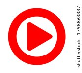 video player icon on the white... | Shutterstock . vector #1798863337