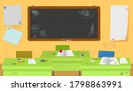 school messy classroom with... | Shutterstock .eps vector #1798863991