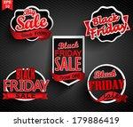 black friday sale labels set. | Shutterstock .eps vector #179886419