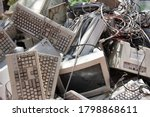 Pile Of Old Computer Waste In...