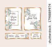 wedding invitations set with...   Shutterstock .eps vector #1798889974