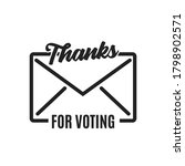 thanks for voting envelope icon ...