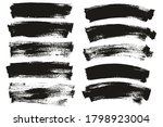flat paint brush thin long  ...   Shutterstock .eps vector #1798923004