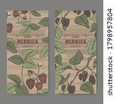 Set Of Two Labels With Garden...