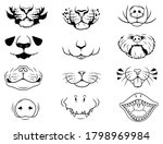 set of animal faces. collection ... | Shutterstock .eps vector #1798969984