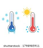 this is hot and cold... | Shutterstock .eps vector #1798985911