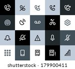 telephone and call logs icons.... | Shutterstock .eps vector #179900411