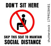 do not sit here sign for public ...   Shutterstock .eps vector #1799028481