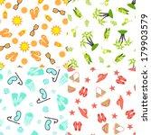 four bright summer seamless... | Shutterstock .eps vector #179903579