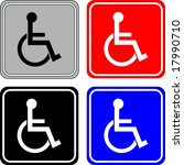 disabled sign | Shutterstock . vector #17990710