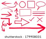 colletion of arrows and frames | Shutterstock .eps vector #179908031