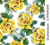 floral pattern. vector seamless ... | Shutterstock .eps vector #179909345