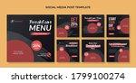 breakfast menu social media... | Shutterstock .eps vector #1799100274