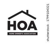 hoa  home owner's association ...   Shutterstock .eps vector #1799104321