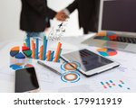 financial charts on the table... | Shutterstock . vector #179911919