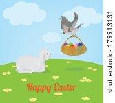 easter greeting card | Shutterstock .eps vector #179913131
