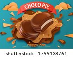 choco pie ad template ... | Shutterstock .eps vector #1799138761