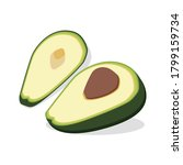 avocado isometric flat icon... | Shutterstock .eps vector #1799159734