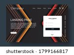 landing page with abstract...