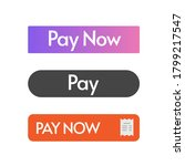 pay now button vector design ui ...
