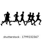 young athletes run a marathon.... | Shutterstock .eps vector #1799232367