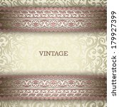 vintage background  greeting... | Shutterstock .eps vector #179927399