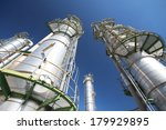 refinery tower with blue sky | Shutterstock . vector #179929895