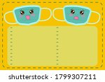 happy and sad face mask list... | Shutterstock .eps vector #1799307211