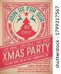 retro christmas party... | Shutterstock .eps vector #1799317567