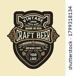 craft beer vintage label.... | Shutterstock .eps vector #1799318134