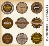 collection of  labels with... | Shutterstock .eps vector #179932151