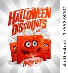 halloween discounts sale banner ... | Shutterstock .eps vector #1799348401