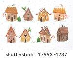 Set Of Cute Gingerbread Houses...