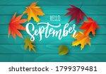 September Text. Lettering...