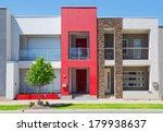 typical facade of a modern town ... | Shutterstock . vector #179938637